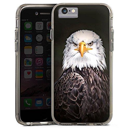 Apple iPhone 6s Bumper Hülle Bumper Case Glitzer Hülle Adler Bird Vogel Bumper Case transparent grau
