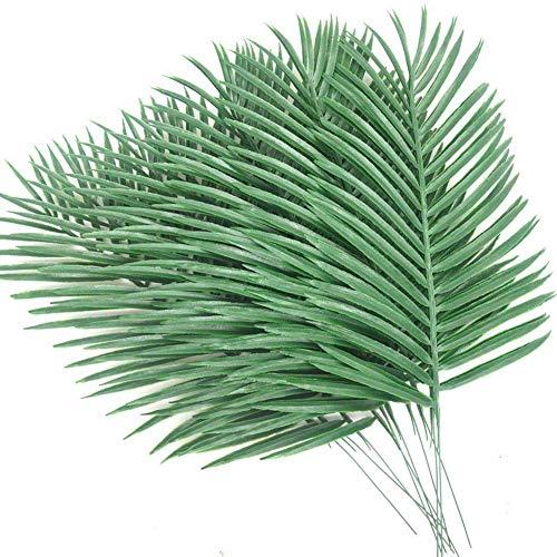 Palmenblätter künstliche Palmenblätter künstliche Monstera Tropische Blätter für Dschungel-Party Supplies Dekoration Green-12pcs ()