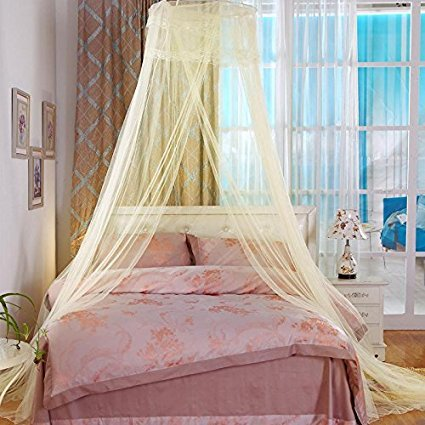 Unimall Mosquito Net Bed Canopy Indoor or Outdoor Fit Crib for Baby Lovely Girls Twin