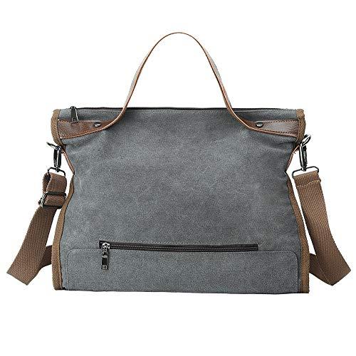 Eshow leinwand Neue Frauen Tasche handtaschen Kunst Stoffbeutel umhängetasche leinwand umhängetasche (Grau) - Neue Leinwand Kunst