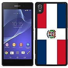 Funda carcasa para Sony Xperia M4 - M4 Aqua diseño Bandera República Dominicana borde negro