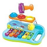 Early Education - Xilófono para bebé de 1 año con 3 Bolas de Colores/Martillo pequeño para niños y niñas