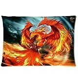 Die besten Pillowcase Home Fashion Kissen - Free-shipping Custom Comfortable Style Zippered Pillowcase, Flame Phoenix Bewertungen