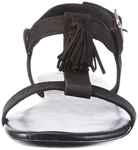 21 eBay Donna T EU 49247 Bar Black Nero Scarpe 39 BIANCO Sandal tw61Axqw