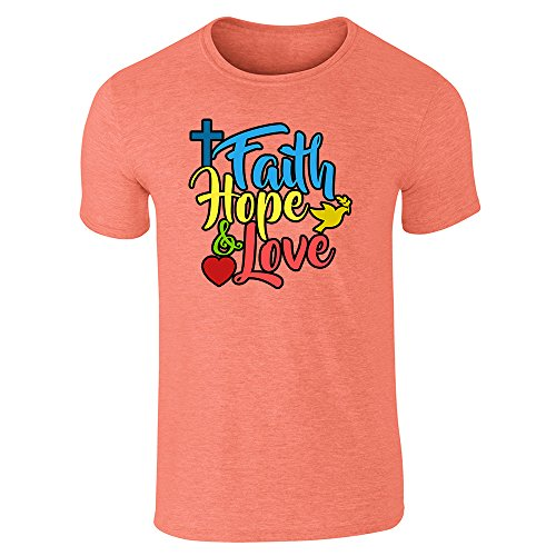 Pop Threads Herren T-Shirt Orange (Heather Orange)