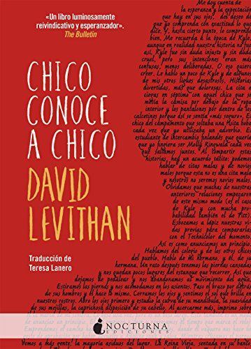 Chico conoce a chico par David Levithan