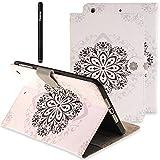 Slynmax Tasche Flip Case Schutzhülle Kompatibel mit Samsung GALAXY Tab A T280 (2016) 7 Zoll Tablet Hülle Wallet Case Blumen PU Leder Lederhülle Bookstyle Handyhülle Klapphülle Ständer Karten Slot