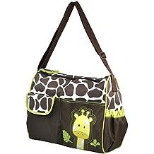 TRIXES Borsa giraffa per il cambio del bebè comprensiva di fasciatoio e borsa per accessori