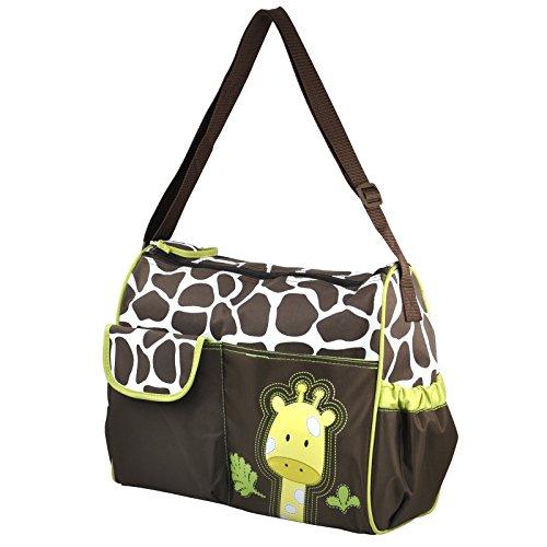 TRIXES Giraffe Baby Wickeltasche inkl. Wickelunterlage und klar Zubehör Tasche