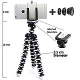 Meya Happy Gorilla Tripod for Mobile Phones/DSLR Camera and 2 in 1 Lens Kit for Mobiles - 13 inch