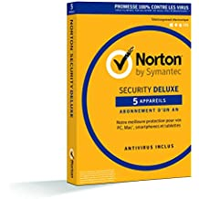 Norton Security Deluxe 2019, 5 Appareils, 1 an, PC/Mac/iOS/Android, Téléchargement