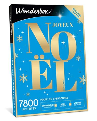 Wonderbox - Coffret cadeau noël - JOYEUX NOEL Pétillant - 7800 activités bien-être ou gourmandes