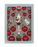 Magic Bolas 20Piezas, con Figuras//Árbol de Navidad Figuras de Bolas de Navidad, Vidrio soplado Pintado a Mano Bolas Árbol de Navidad árbol de Navidad