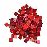 Creleo 790314 Mosaiksteine, 45 g, 10 x 10 mm, 190 Stück, rot