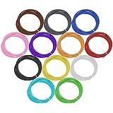 Rellenos de Filamento de Pluma 3D, Esonstyle Environmental 1.75mm ABS Filamento de Impresión 3D Paquete de Vacío con 12 Colores Diferentes Longitud de 20 Pies por Color para la Pluma de Impresora 3d