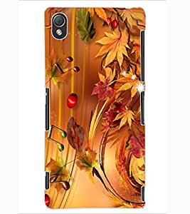 ColourCraft Beautiful Music Notes Design Back Case Cover for SONY XPERIA Z3