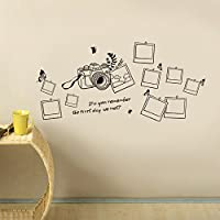Walplus - Adhesivos decorativos para pared, diseño de cámara y fotos