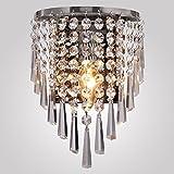 Maxmer Applique Murale en Cristal Simple Moderne Lampe Originale Design Créatif Éclairage Décorative Lumiaire Aluminium Chambre Maison Couloir Salon