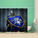 HBZZCL La Tenda della Doccia Armatura Scudo Anti-Muffa Uncini Polyester Decorativi Bagno-180(W) X180(H) Cm