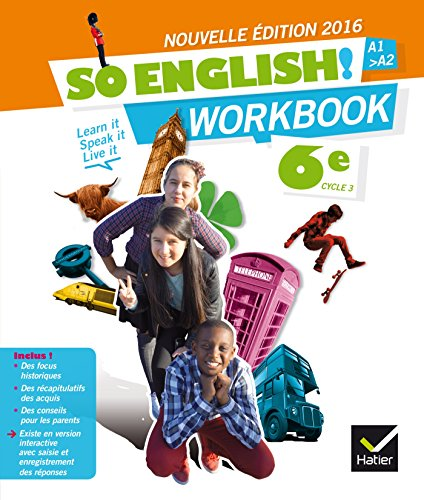 So English! Anglais 6e éd. 2016 - Workbook par Evelyne Ledru-Germain
