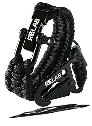 Relab Premium Paracord Armband - inklusive kostenlosem Schlüsselanhänger - hochwertig verarbeitete Fallschirmschnur zu einem nützlichen Accessoire mit verstellbarem Edelstahlverschluss welches Ihr Survival Kit ergänzt