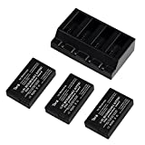 Tera Multi Rapid Battery Charger with 3Pcs 3.7v 630mAh Li-po Battery Kit for...