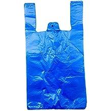 Aproximadamente 100 azul chaleco de bolsas de plástico (11x17x21), 17,0 micras Material virgen
