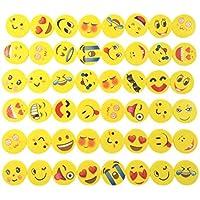 JZK 48 Emoji emoticon gomma cancellare matita set regalino bomboniera per festa bambini compleanno battesimo Natale regalo per bambina bambino