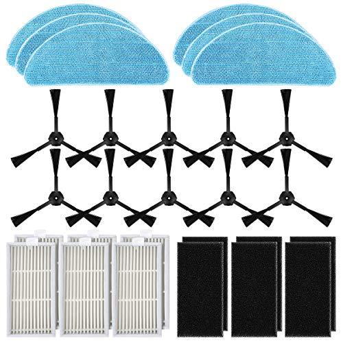 POWER-XWT Ersatzteile Zubehör Filter HEPA Tuch Velcro für ILIFE V3s Pro V3s V5 V5s und V5s pro Robot Vacuum Staubsauger-Teile