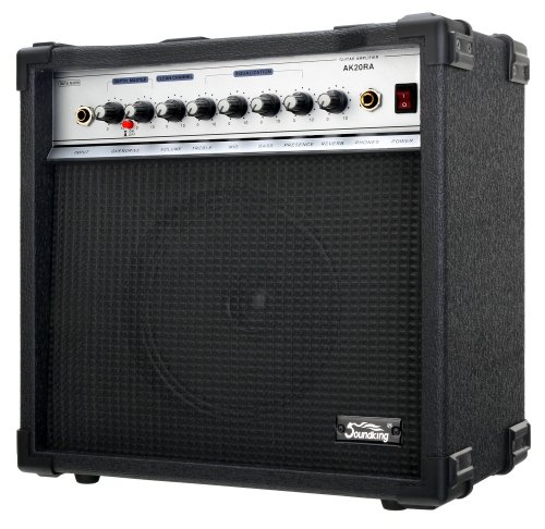 "Soundking AK20-RA Gitarrencombo schwarz (60 Watt, 8"" Speaker, 2 Kanäle, 4-Band Equalizer, Digital Reverb)"