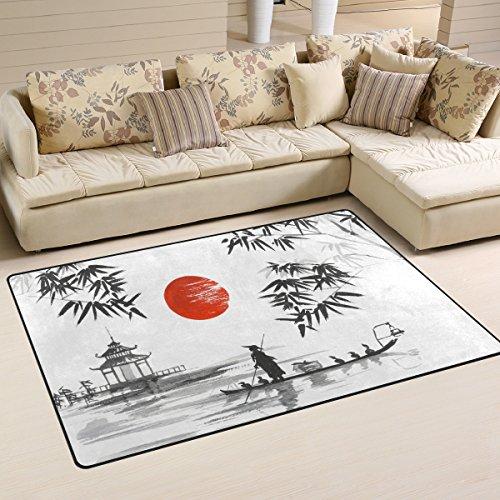 Jungen-raum Möbel (ingbags Super Weich Moderner Japanische Malerei Mann mit Boot, ein Wohnzimmer Teppiche Teppich Schlafzimmer Teppich für Kinder Play massiv Home Decorator Boden Teppich und Teppiche 78,7x 50,8cm)