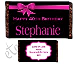 Eternal Design Personalised Birthday Chocolate Bar Wrapper...