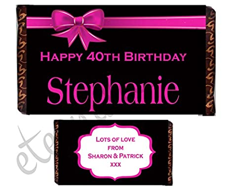 Eternal Design Personalised Birthday Chocolate Bar Wrapper BDCB 10
