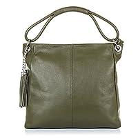 FIRENZE ARTEGIANI.Bolso shopping bag de mujer piel auténtica.Bolso cuero genuino,piel Dollaro,tacto suave. MADE IN ITALY. VERA PELLE ITALIANA. 38x33x15 cm.