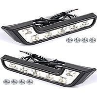 2x 12V 6 Bianco LED Auto Luci Diurne Daylight Running Light LED DRL dell'automobile Luce Lamp MA140