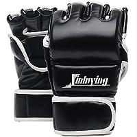 Xinluying MMA Handschuhe Boxhandschuhe Kickboxen Kampfsport Boxsack Boxen Sandsack UFC Profi Training Herren Damen Leder
