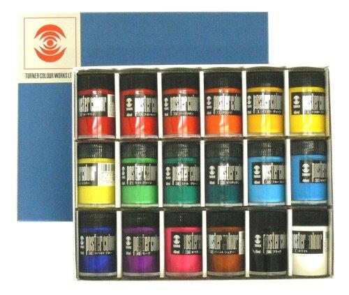 Turner poster color 40ml 18 color set (japan import) Turner-set
