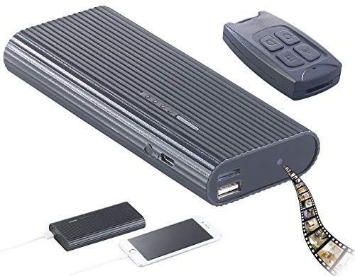 reVolt Powerbank Cam: 2in1-Powerbank mit Full-HD-Kamera und IR-Nachtsicht, 6.000 mAh, 1 A (Spion Kamera)