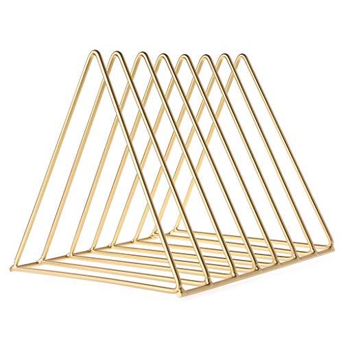 Pennyninis Dreieck Bücherregal Home Office Eisen Storage Rack Book Magzine Holder Multifunktions-Organizer Decor gold -