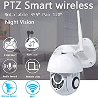 SamMoSon 1080P Wireless WiFi IP Camera Outdoor Visione Notturna Sicurezza Domestica Voce a Due Vie 1080P WiFi IP Telecamera Senza Fili