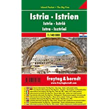 Istrien, Autokarte 1:140.000, Island Pocket + The Big Five, freytag & berndt Auto + Freizeitkarten