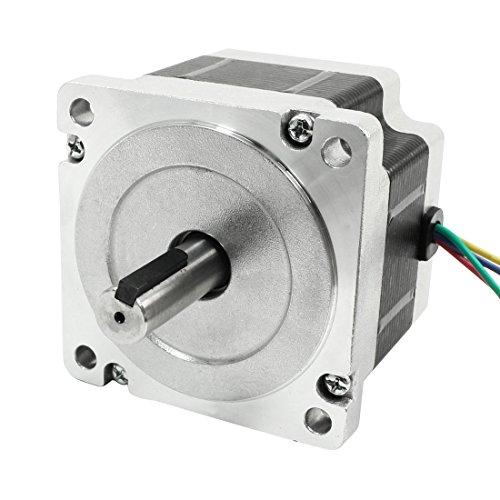 sourcing map NEMA 34 2 Phase CNC Hybrid Schritt Schrittmotor 66mm 4A 496oz.in Schwarz DE de