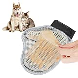 Bbacb Cat and Dog Pet Grooming Glove Mesh Mitten Comb for Cats Dogs Hair Grooming Cleaning Massage Pet Supply Stainless Steel Comb for Pets