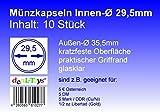 deaL-Toys 10 Münzkapseln 29,5mm, Geeignet für 5 DM, 5 Mark DDR, 5 € Österreich