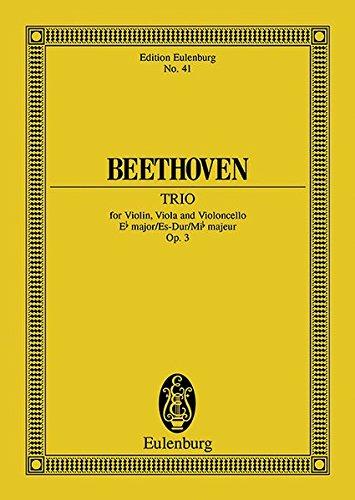 Streichtrio Es-Dur: op. 3. Streichtrio. Studienpartitur. (Eulenburg Studienpartituren)