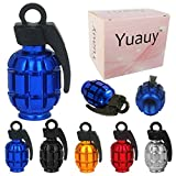 Yuauy - Tapón de válvula de Aluminio para Coche, camión, Motocicleta, neumático de Coche, Motocicleta, válvula de Polvo, Tapas de vástago (20 Unidades)