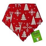 Dimples Hundehalstuch - Weihnachten Rentiere Hirsche (Handgemacht für alle Größen und Rassen) 55cm
