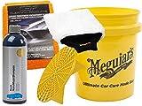 4-tlg. Autopflege-SET Meguiars Grit Guard - Eimer Nano Magic Shampoo Trockentuch