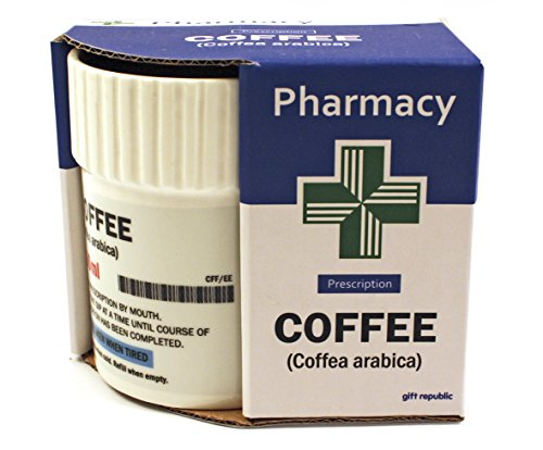 Gift Republic Pill Pot Mug Coffee, Porcelain, Multicolor