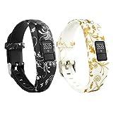 VAN-LUCKY Ersatz-Armband mit Metall-Schnalle für Garmin Vivofit 3 mit Clasps Fitness-Bänder geeignet für alle Größen(Nicht für Garmin Vivofit/Garmin Vivofit 2,Keine Tracker)